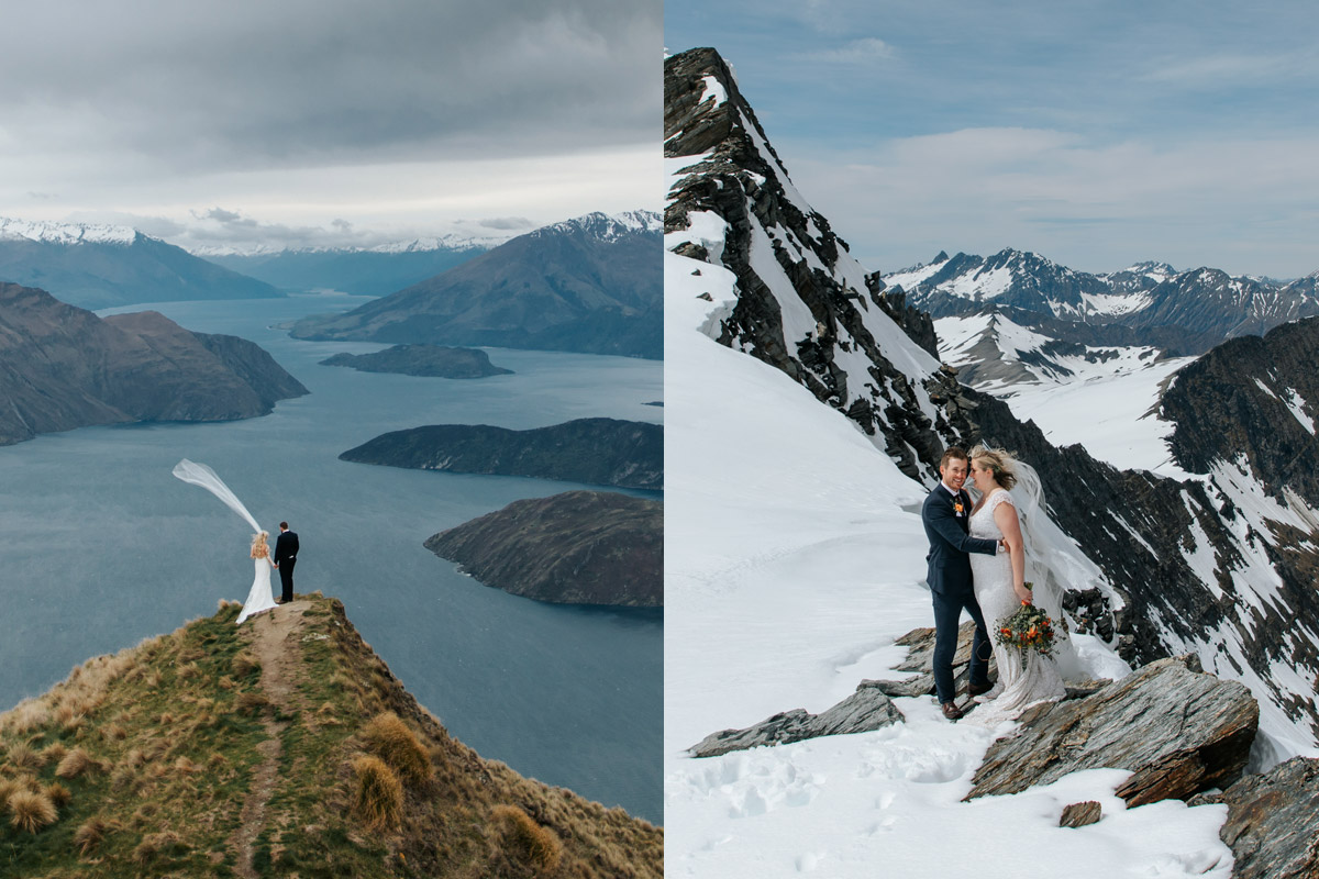 Coromandel Peak and glacier Heli Wedding package in Queenstown New Zealand