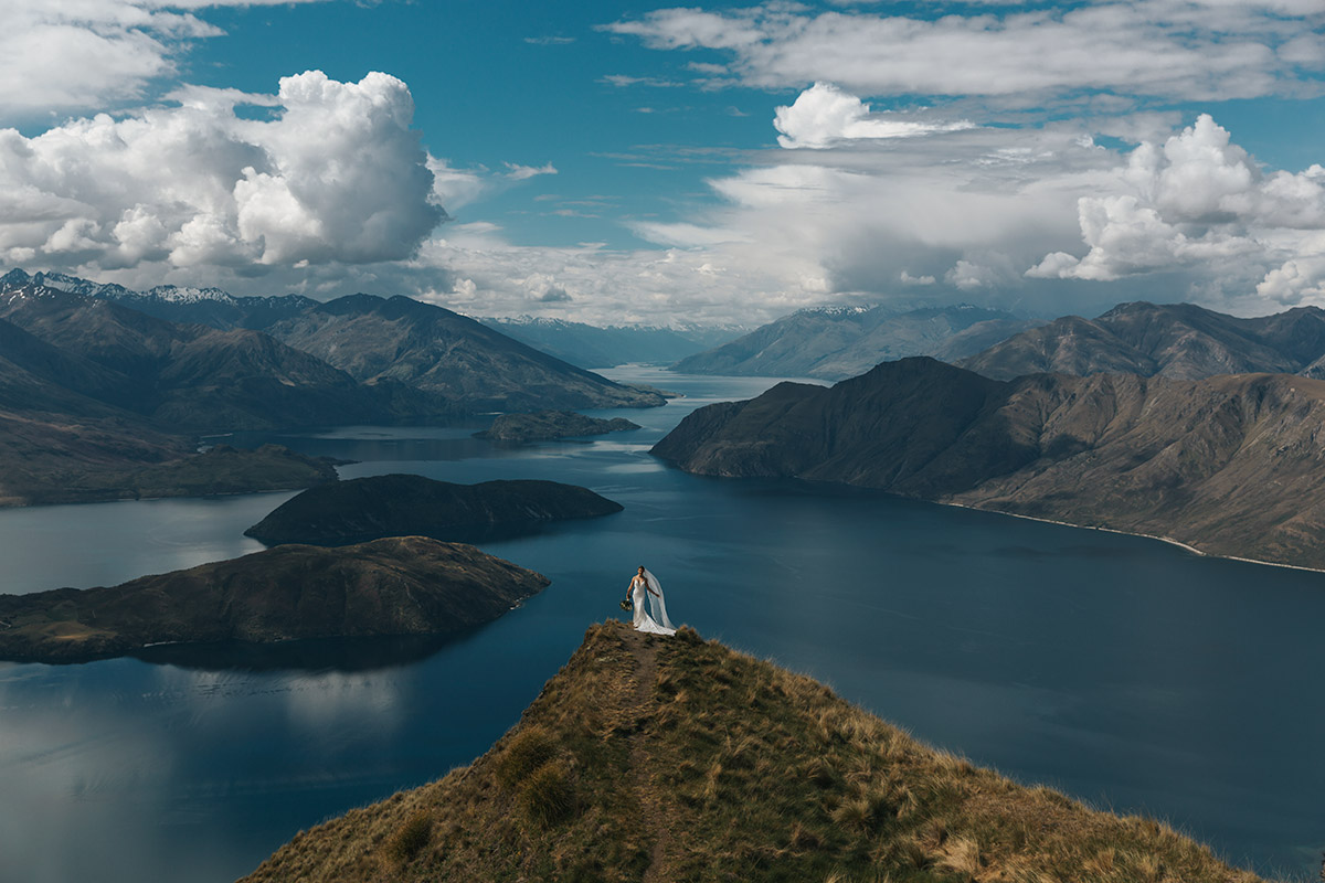 Coromandel Peak Heli Wedding package in Wanaka New Zealand