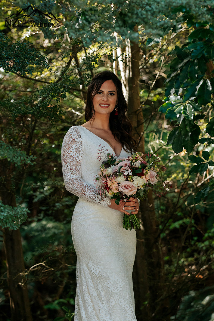 Beautiful bride in Queenstown
