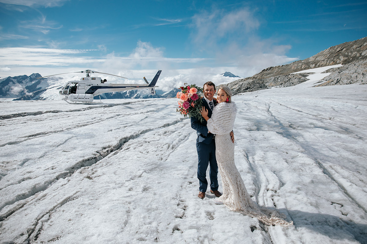 Isobel Glacier Heli Wedding package in Queenstown New Zealand