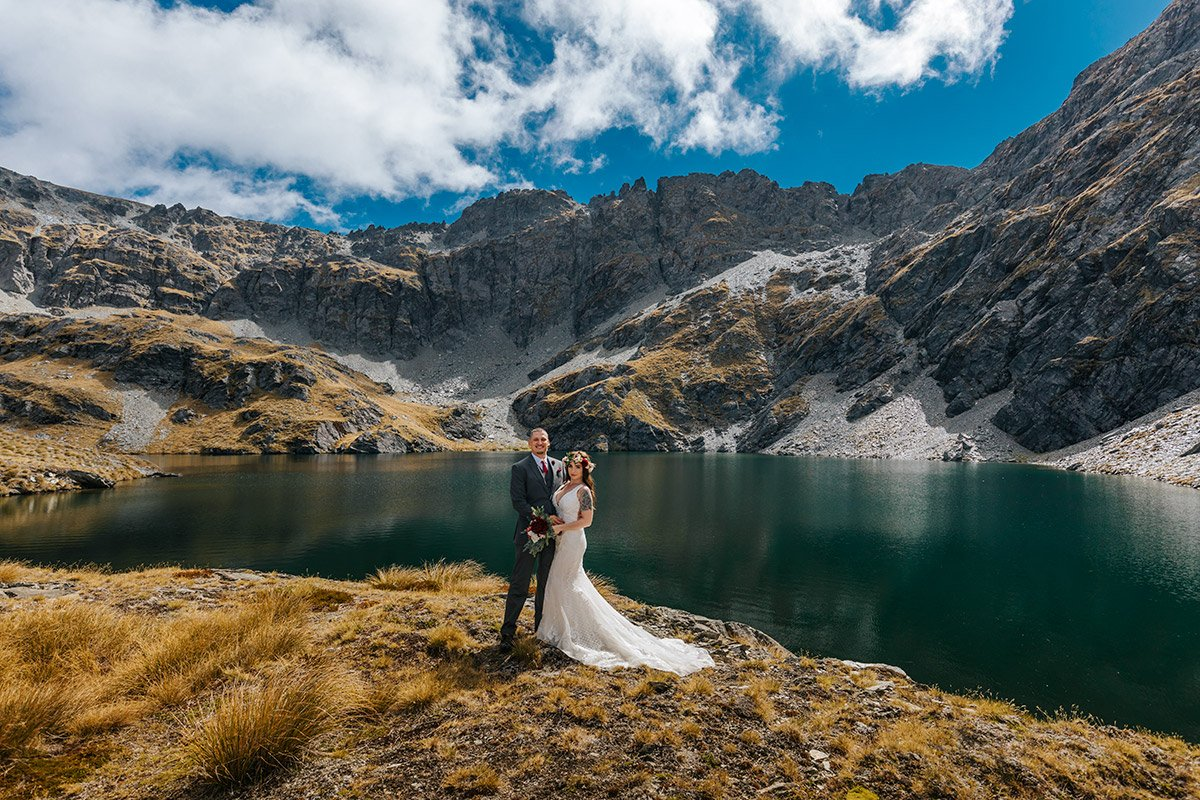 Lake Isobel Heli Wedding package in Queenstown New Zealand