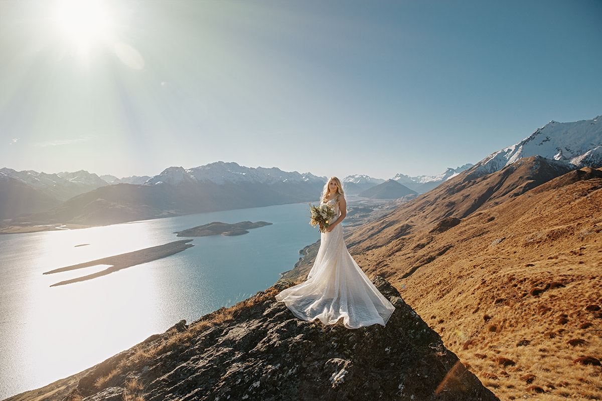 The Larkins Heli Wedding package in Queenstown New Zealand
