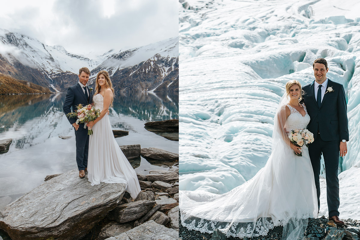 Lochnagar and glacier Heli Wedding package in Queenstown New Zealand