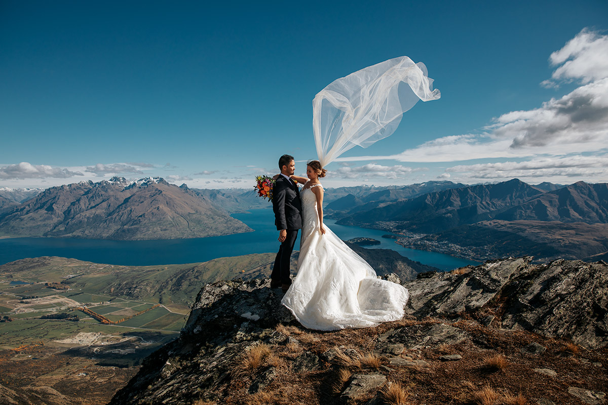 The Remarkables Heli Wedding package in Queenstown New Zealand