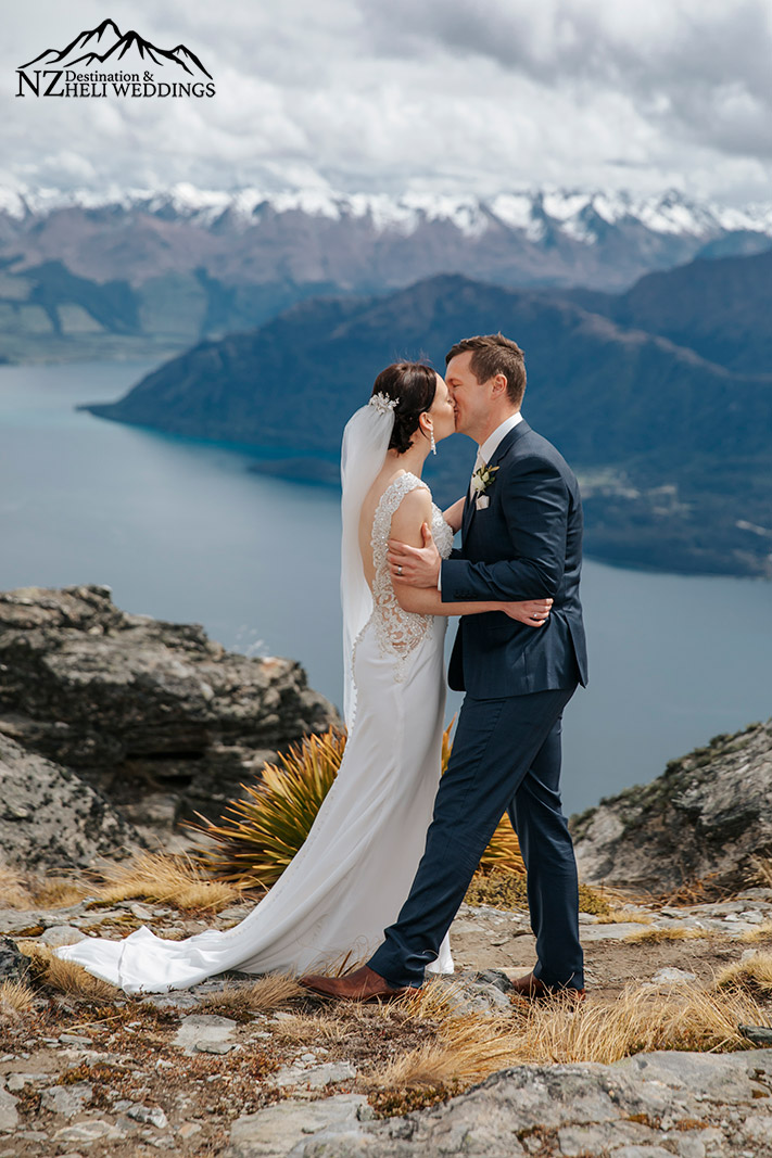 Elopement wedding ceremony on The Ledge in Queenstown
