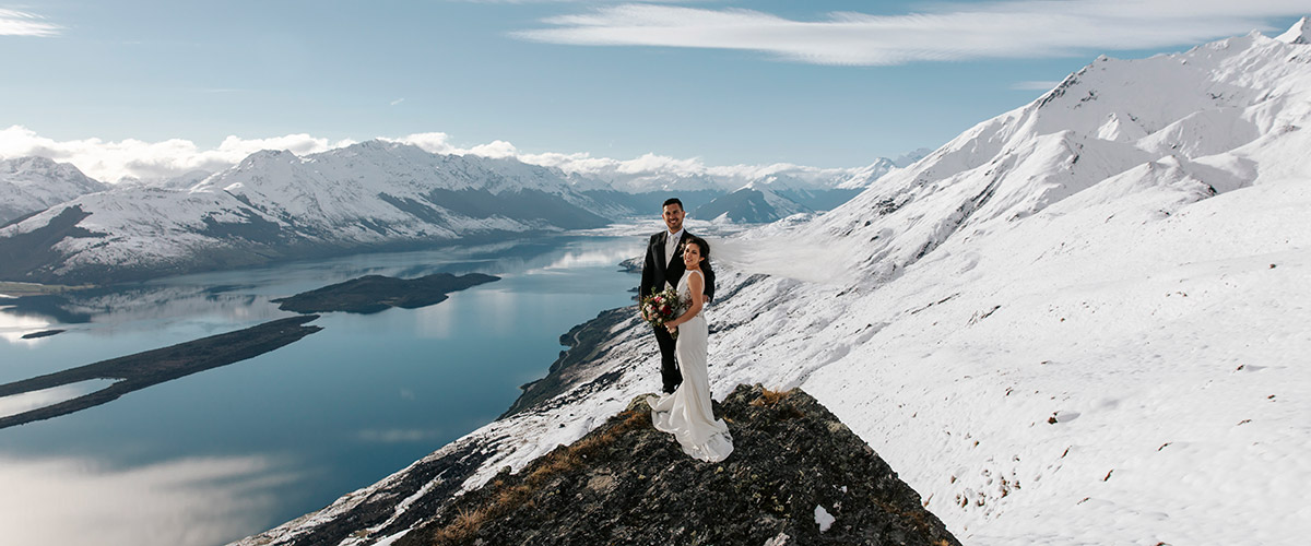 Mt Crichton Heli Wedding Package Queenstown New Zealand