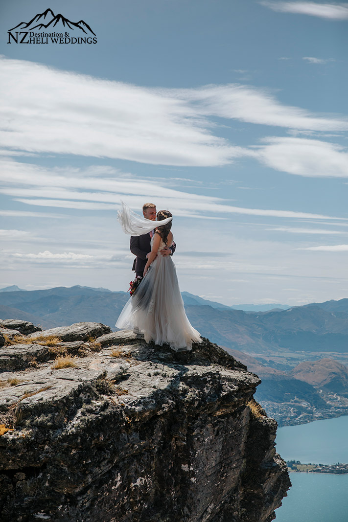 Heli Wedding photography The Ledge in Queenstown