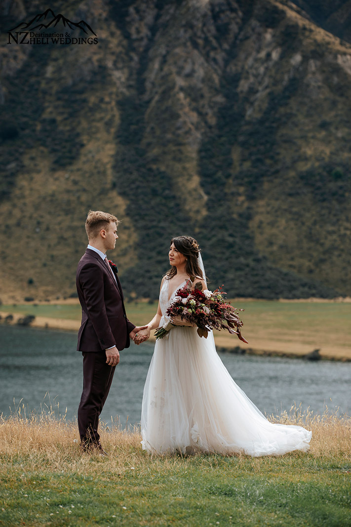 Moke Lake Glamping Wedding Ceremony in Queenstown