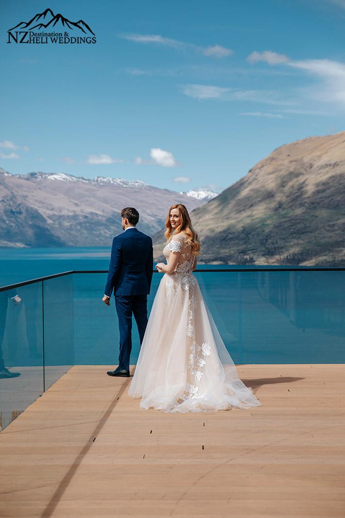 Wedding First look at Kamana Queenstown
