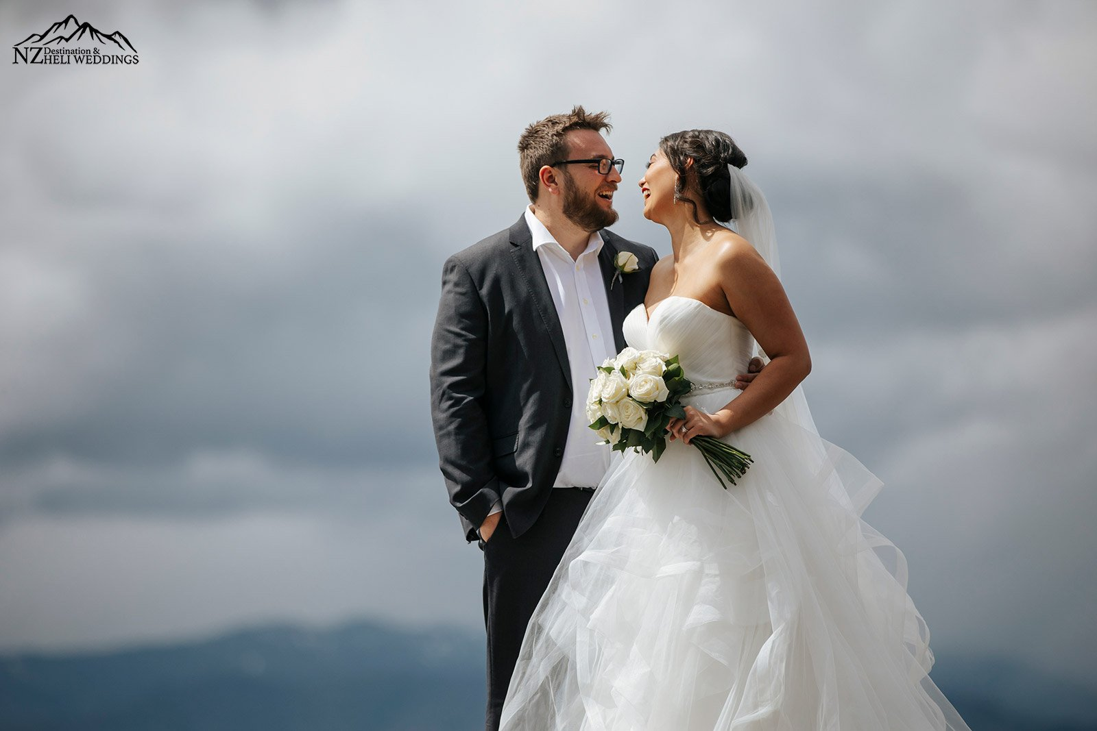 Heli Wedding Photography on The Ledge In Queenstown