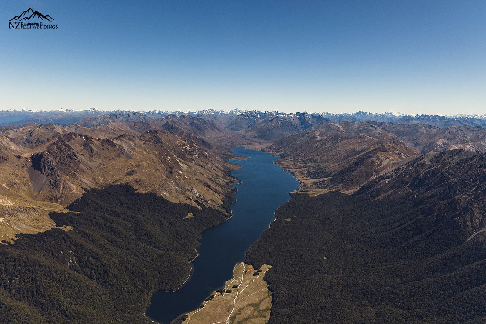 Mavora lakes from above