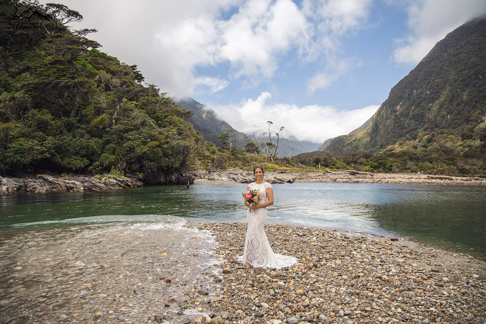 Milford Sounds wedding New Zealand