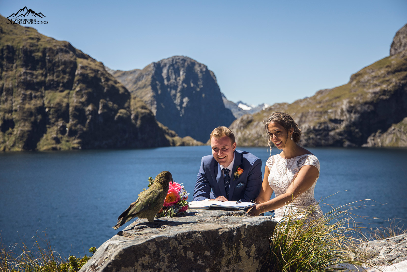 Wedding at Lake Quill with a Kea