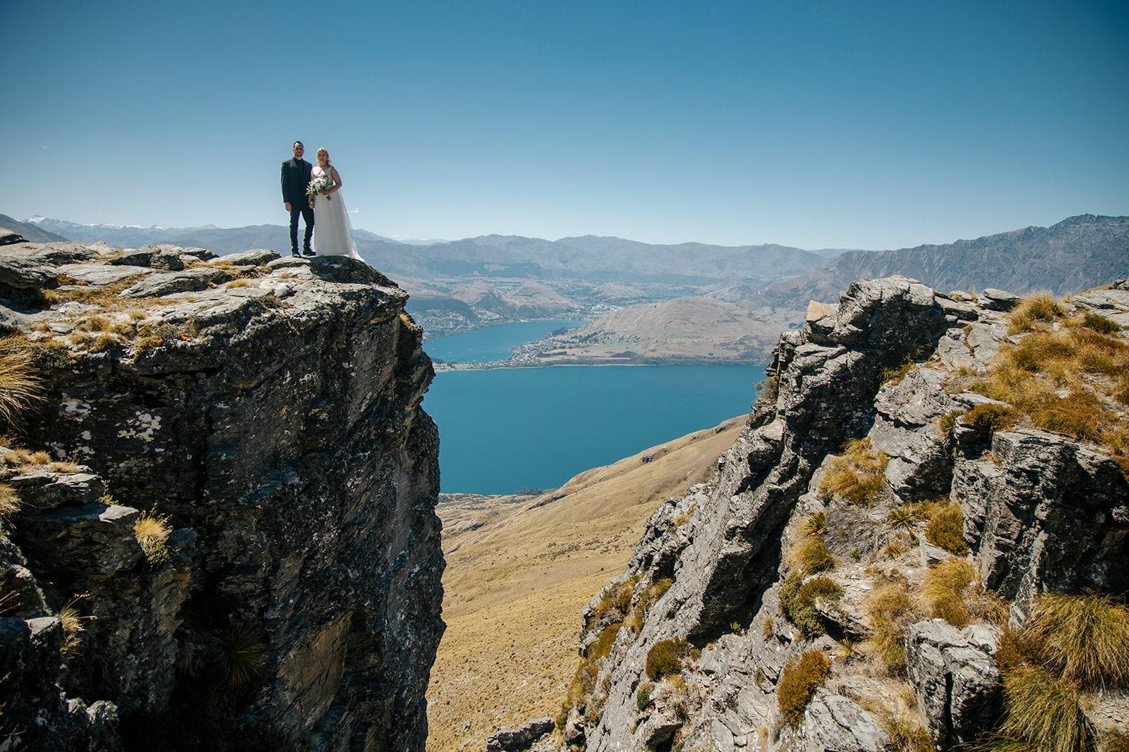 Queenstown elopement wedding photos on The Ledge