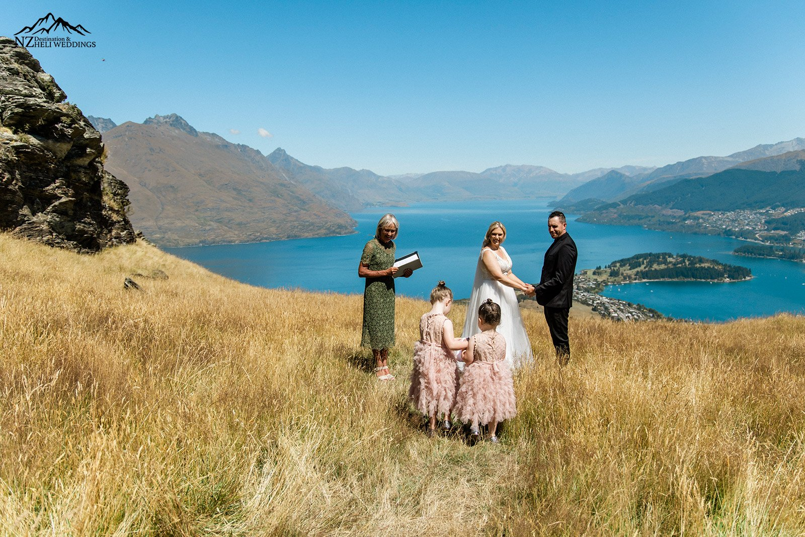 Deerpark Height Wedding ceremony with guests