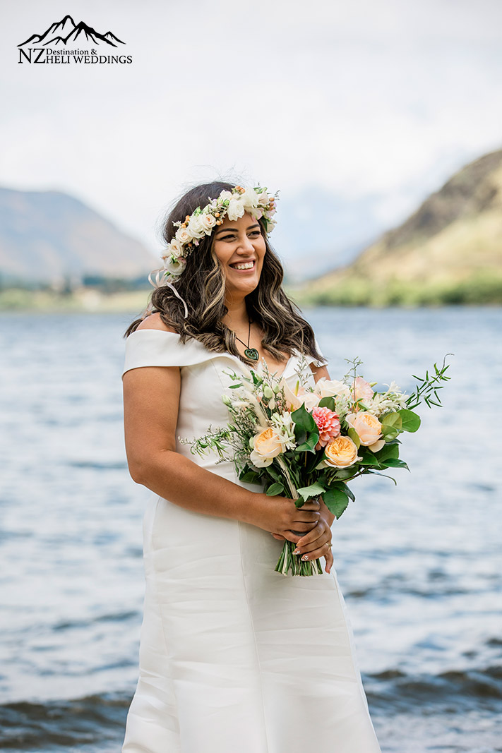 Maori themed wedding at Lake Hayes Queenstown