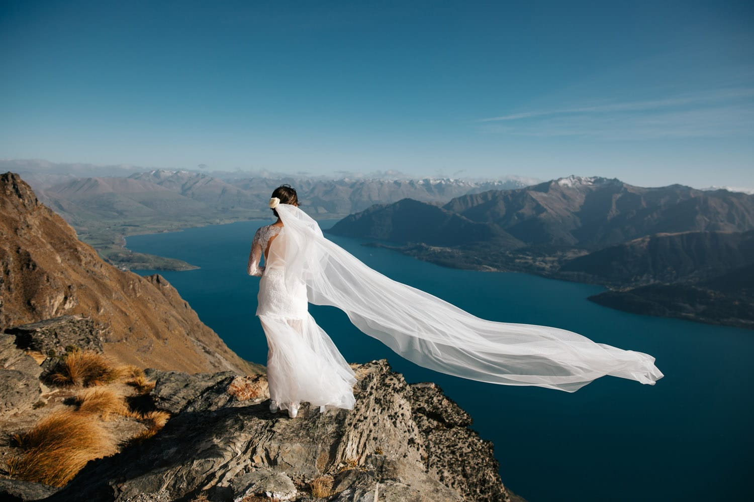 Autumn Wedding on the Ledge in Queenstown
