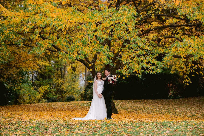 Autumn Wedding in the gardens Queenstown