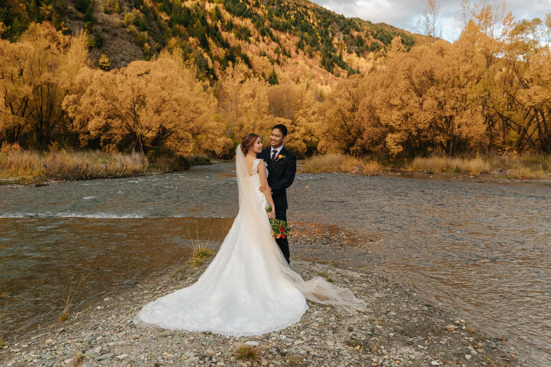 Autumn Wedding at Arrowtown River