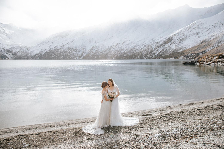 Autumn wedding with first snow at Lochnagar