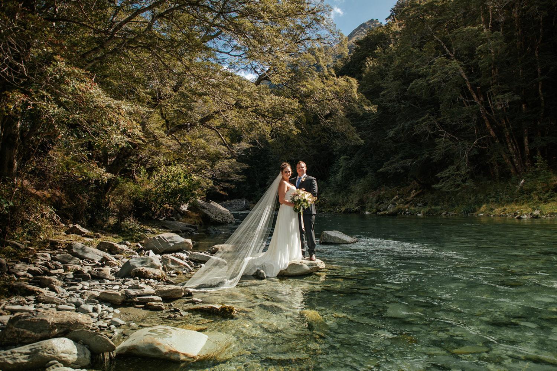 Autumn Wedding at Lochy River Queenstown