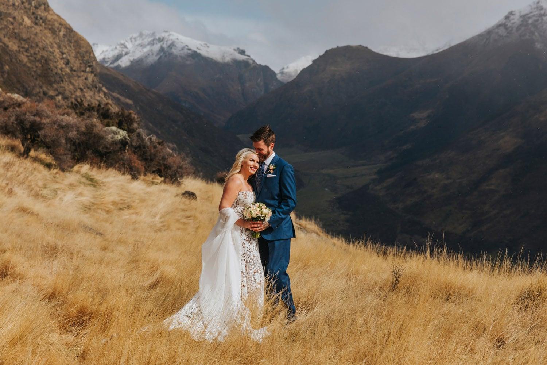 Heli Wedding on Bayonet Peak on Queenstown