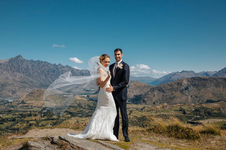 Wedding on Coronet Peak in Queenstown