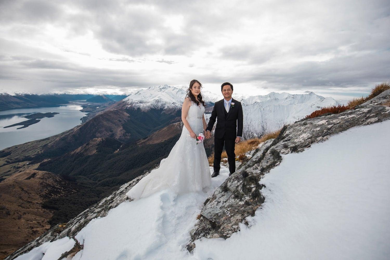 Heli Wedding at MT Crichton Queenstown