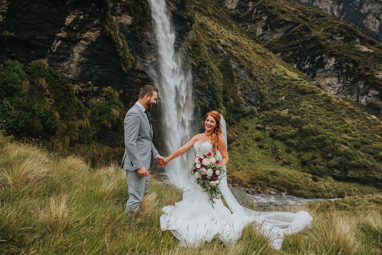 Heli Wedding at Earnslaw Burn Queenstown