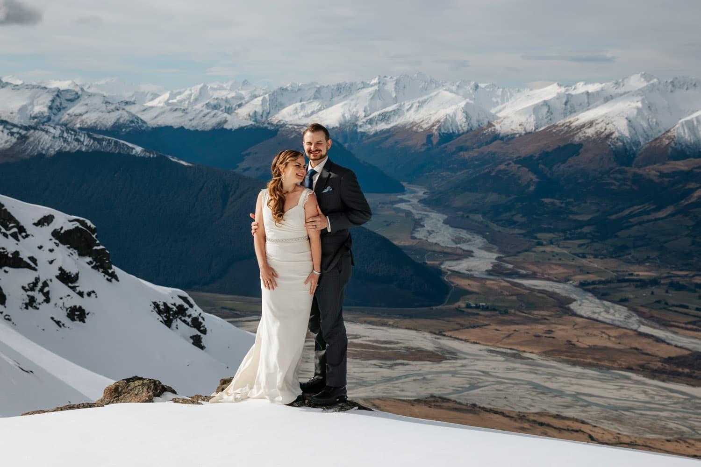 Heli Wedding at Glacier burn Queenstown