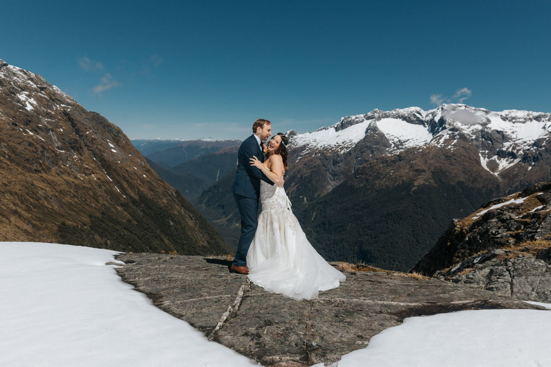 Heli Wedding at Lake Erskine Queenstown