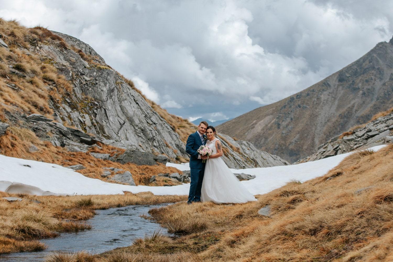 Heli Wedding at Lake Isobel