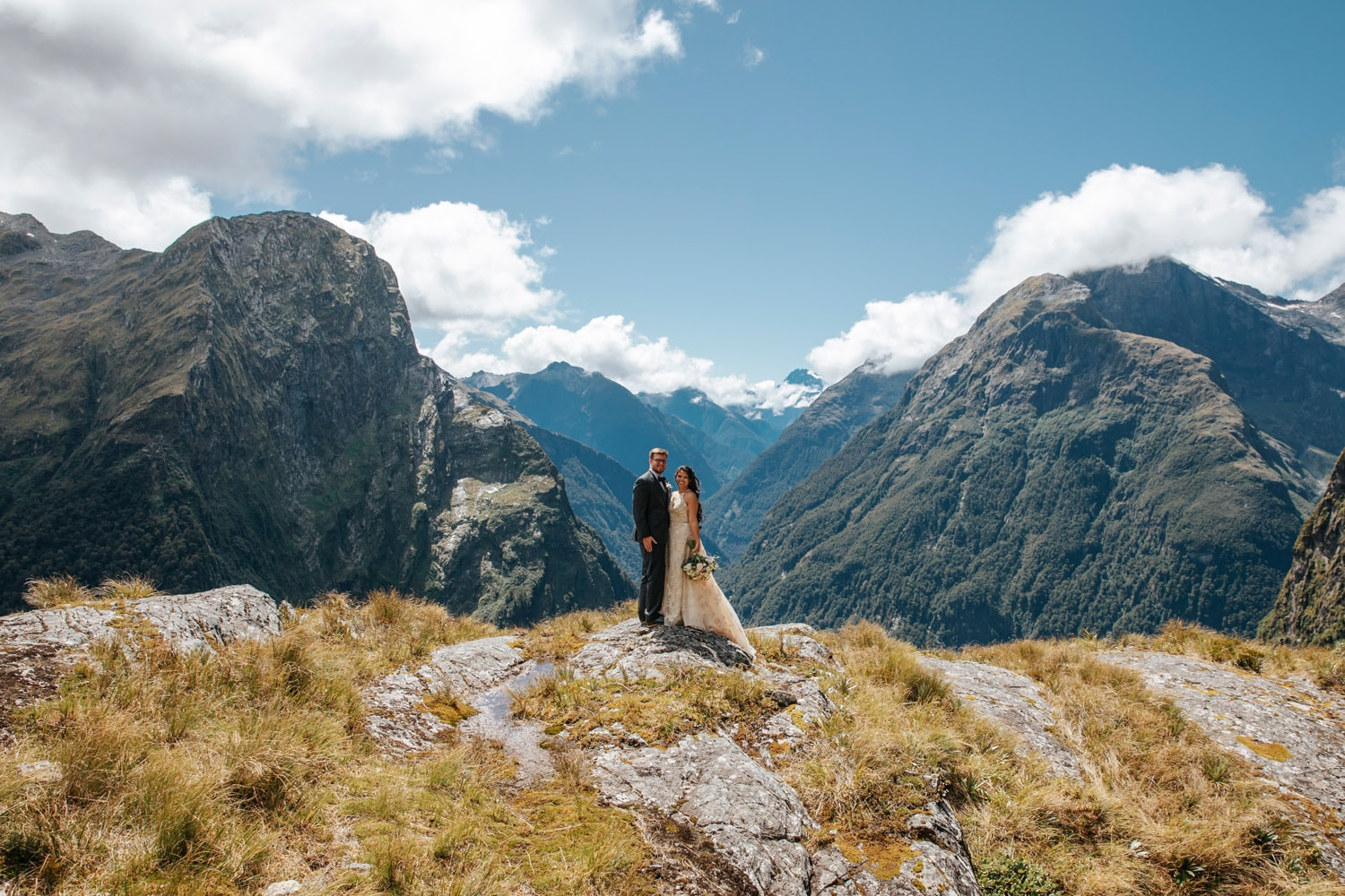 Heli Wedding at Lake Quill Queenstown