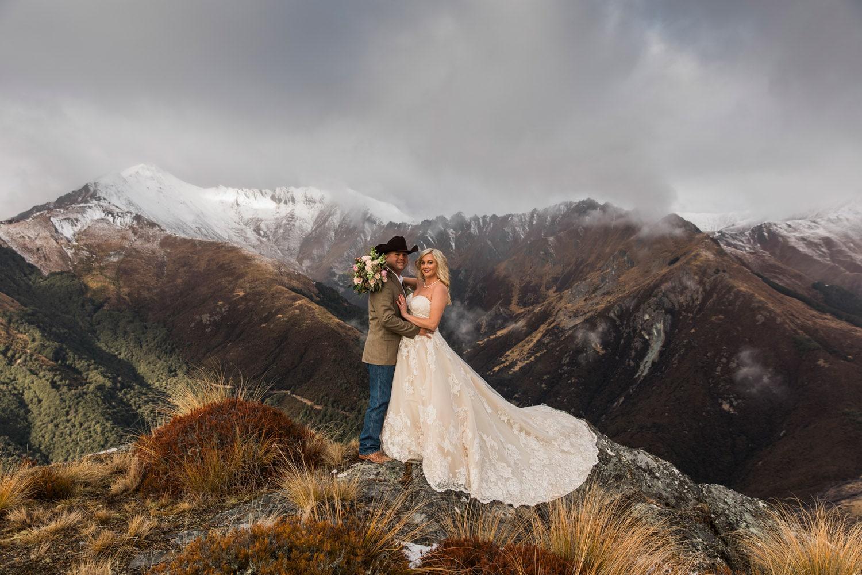 Heli Wedding at The Larkins Queenstown