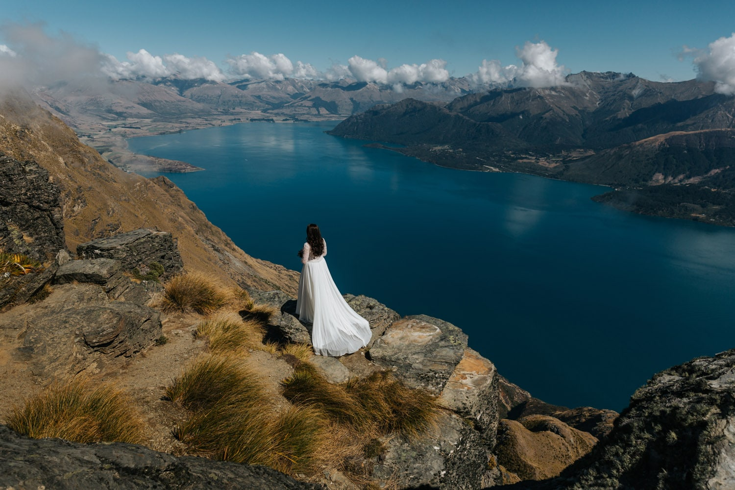 Heli Wedding on The Ledge in Queenstown