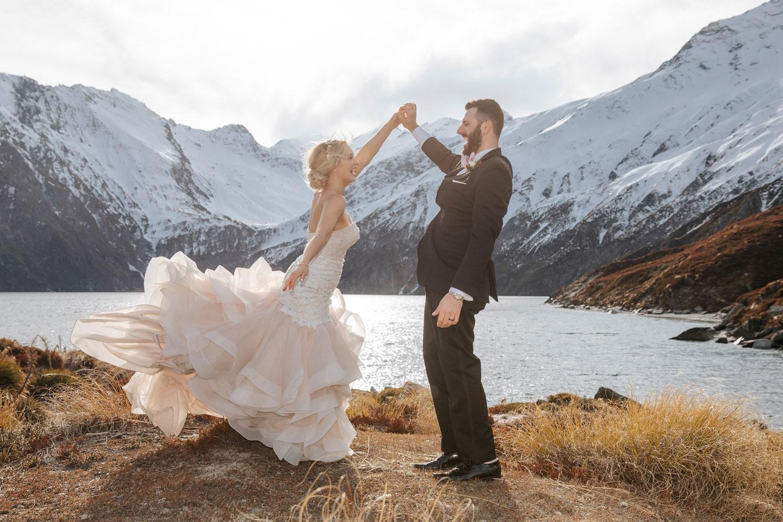 Heli Wedding at Alpine Lake Queenstown