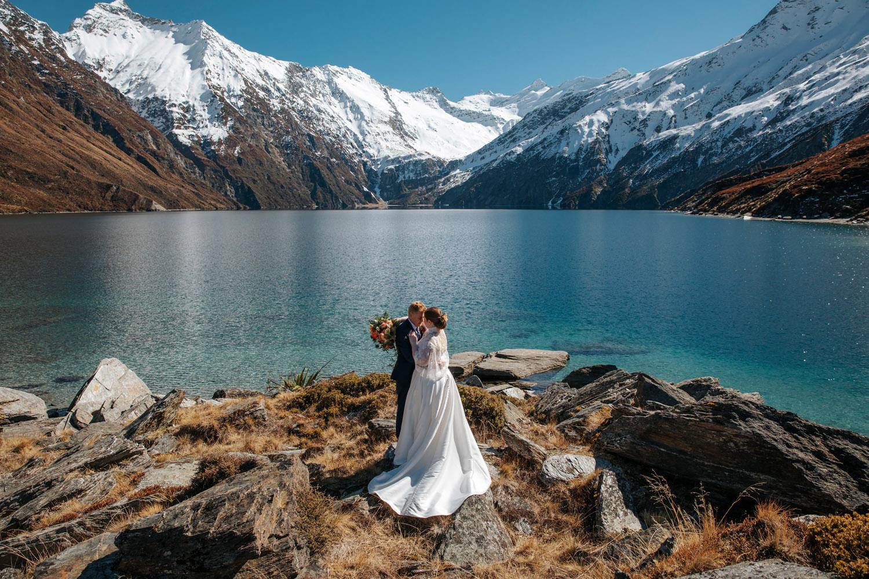 Heli Wedding at Lochnagar Queenstown
