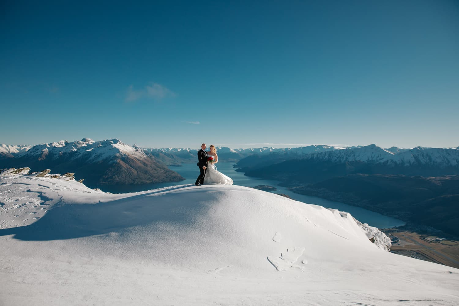 Heli Wedding on The Remarkables