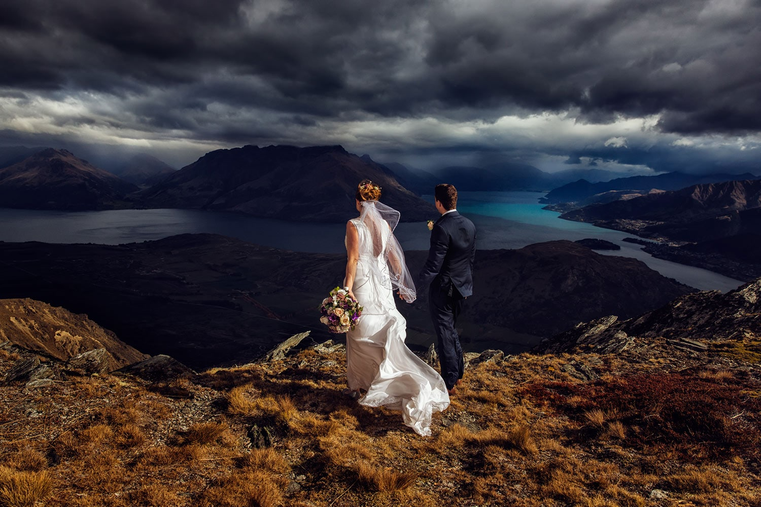 Heli Wedding one the Remarkables