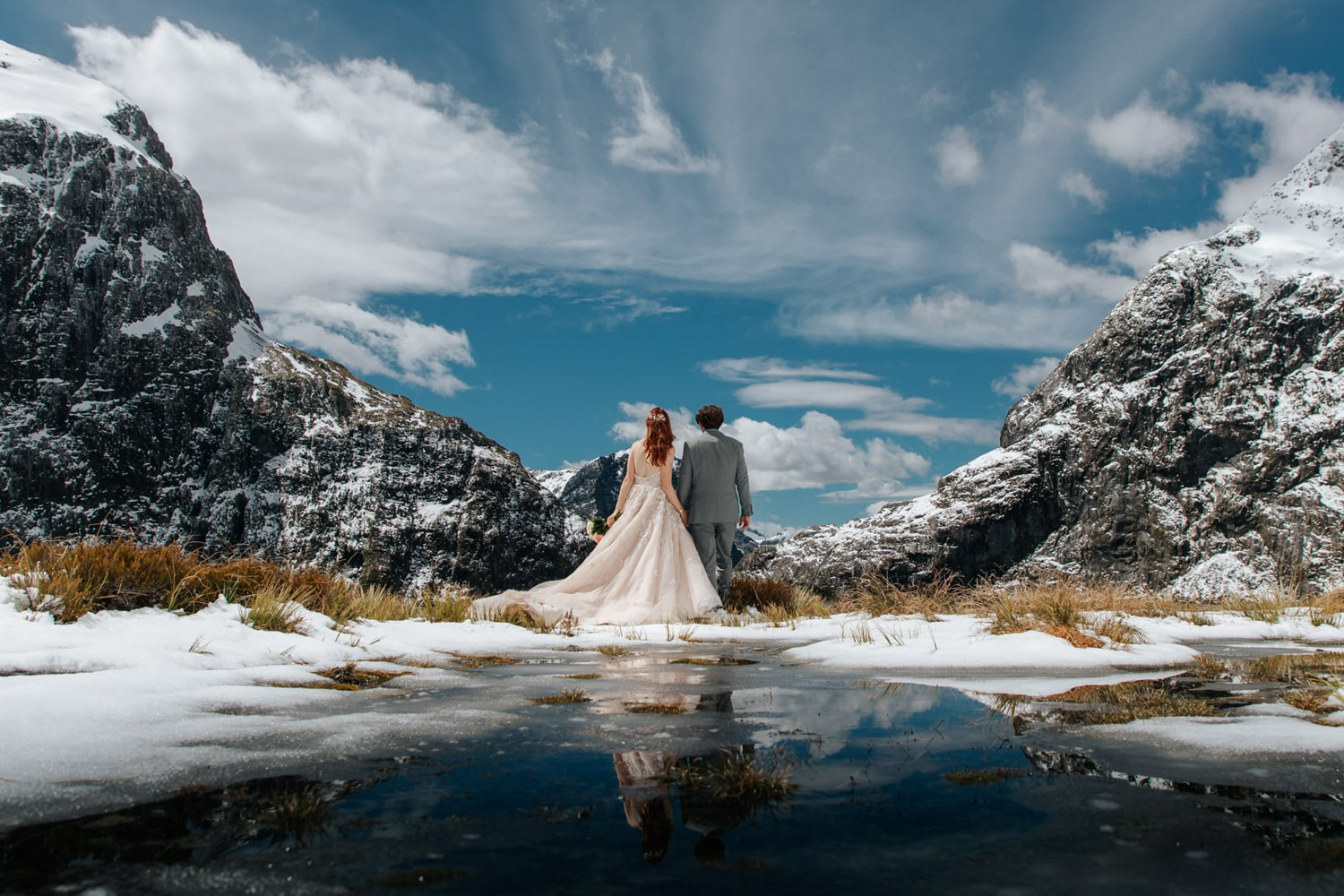 Spring Wedding at Lake Quill Queenstown