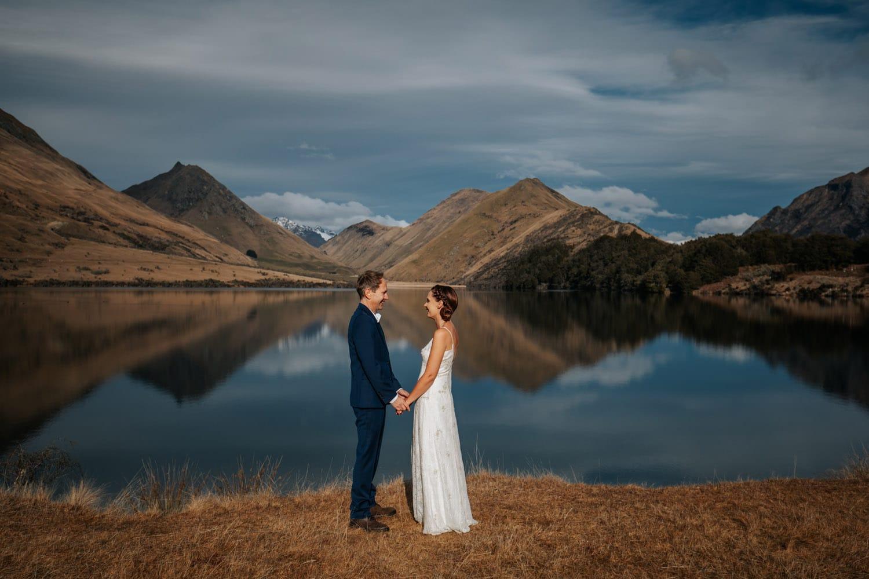 Spring Wedding at Moke Lake in Queenstown NZ