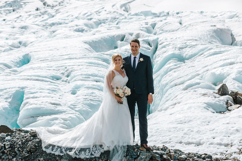 Summer Wedding on Jura Glacier Queenstown
