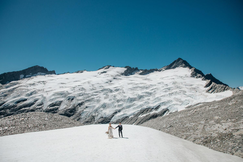 Summer Wedding at Tyndall Glacier Queenstown