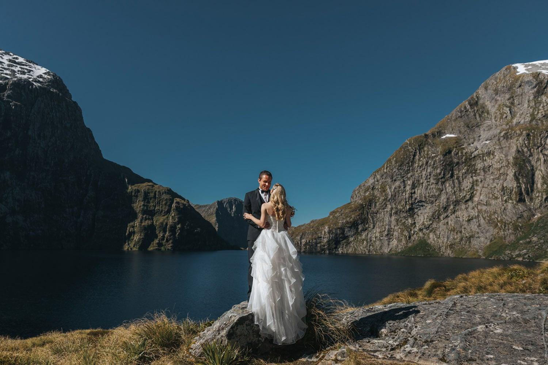 Summer Wedding at Lake Quill Queenstown