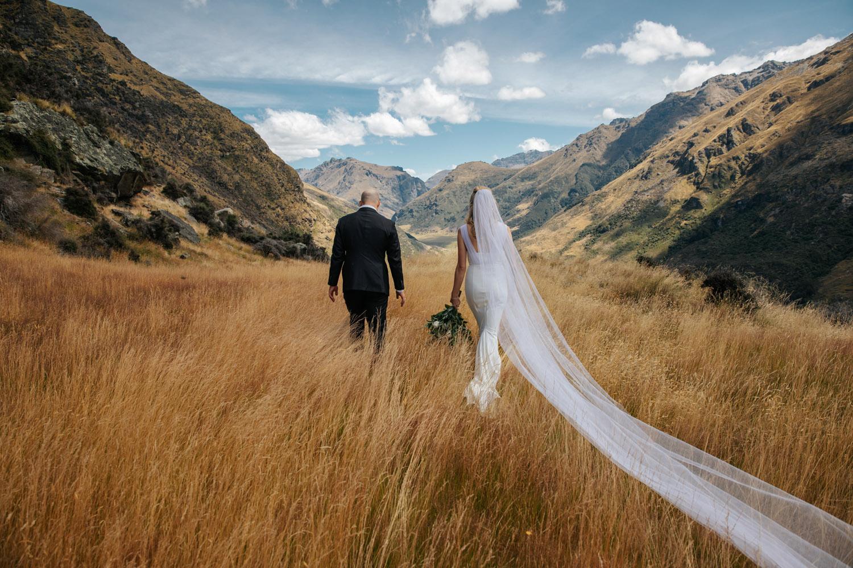 Summer Wedding on Bayonet Peak Queenstown
