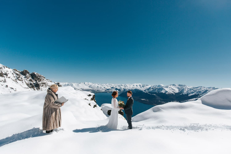 Winter Wedding on The Ledge Queenstown