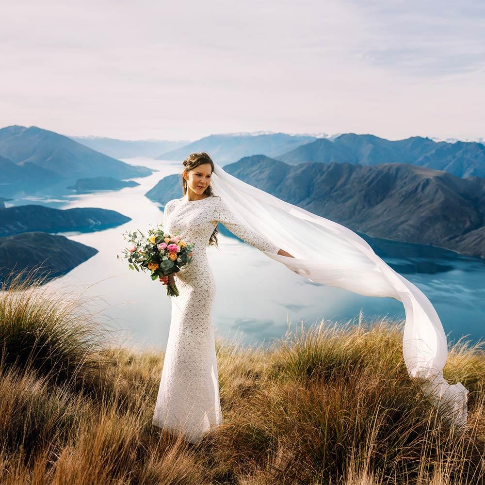 Heli Wedding at Coromandel Peak Queenstown