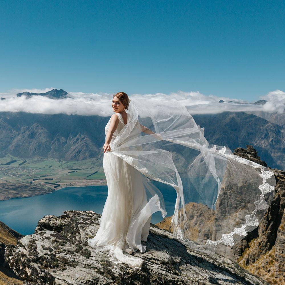 Heli Wedding on Garden Spurs Queenstown NZ