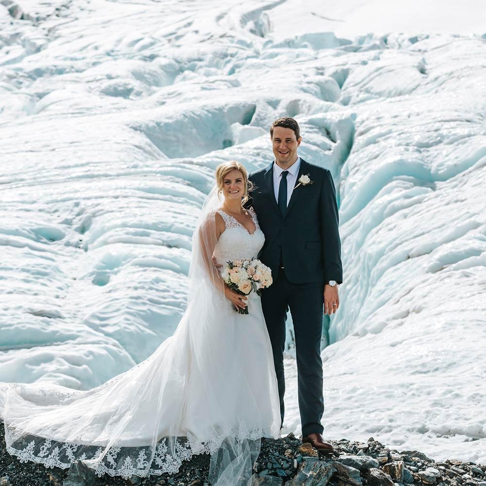 Heli Wedding at Jura & Clark Glaciers