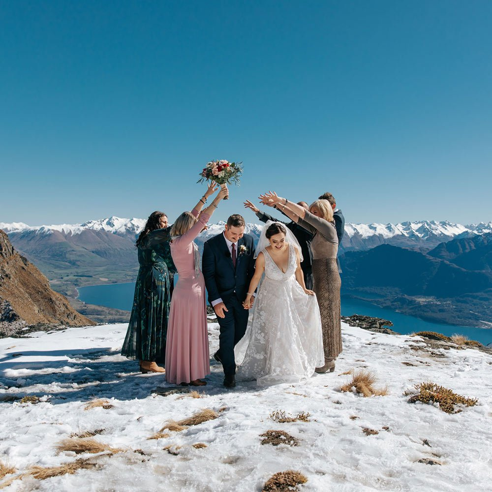 Heli Weddings with guests Queenstown